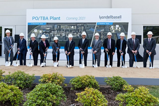 LyondellBasell groundbreaking ceremony