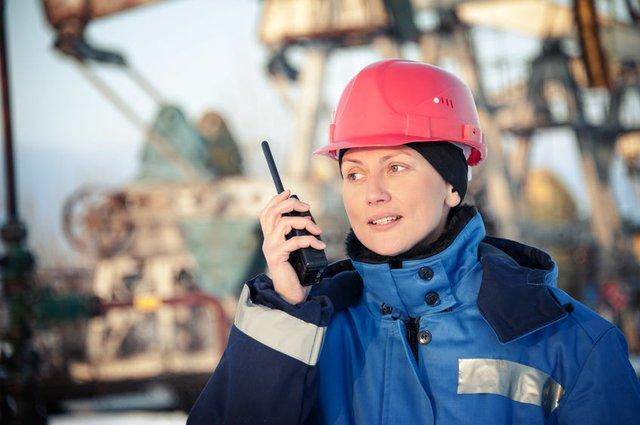 Woman oilfield worker