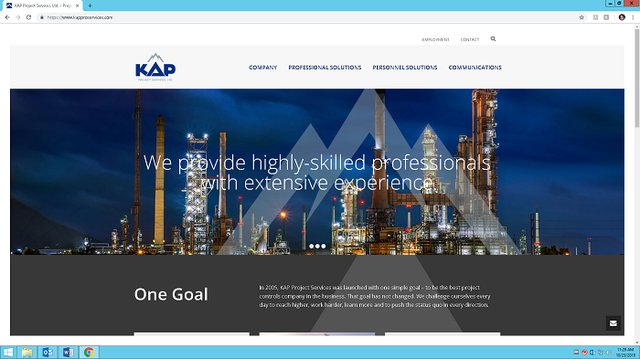 KAP Project Services new website.