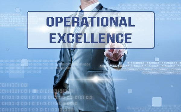 businessman making decision on operational excellence