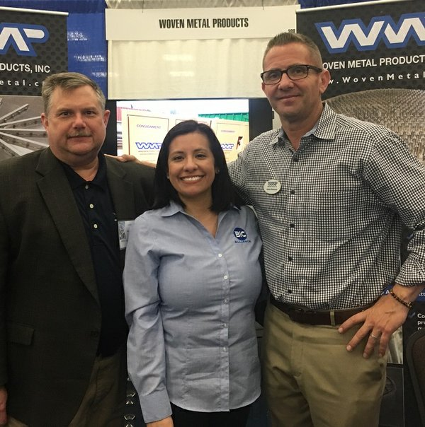 Woven Metal Products welcomes BIC Magazine to its booth