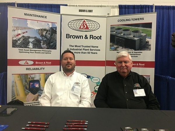 BIC Magazine visits Brown & Root's booth at the PMIES Expo