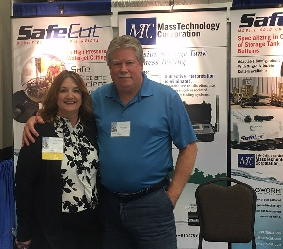 Laurie Tangedahl of BIC Magazine says hello to client Safe Cut -- a service of Mass Technology Corp.