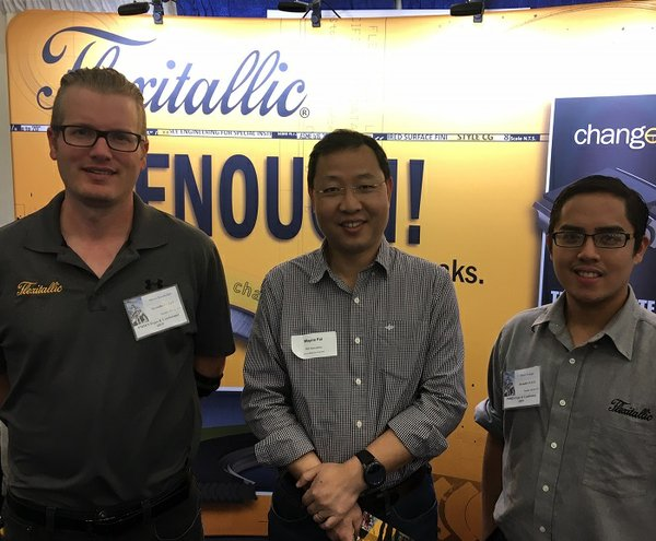 PMI Specialists visit Flexitallic's booth at the PMIES Expo