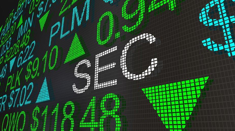 SEC Securities Exhchange Commission Stock Market Ticker 3d Illustration