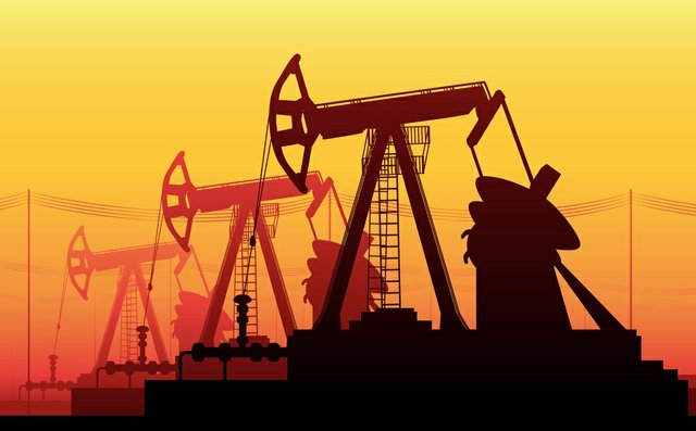 Working Oil Pumps and Drilling Rig, Oil Pump