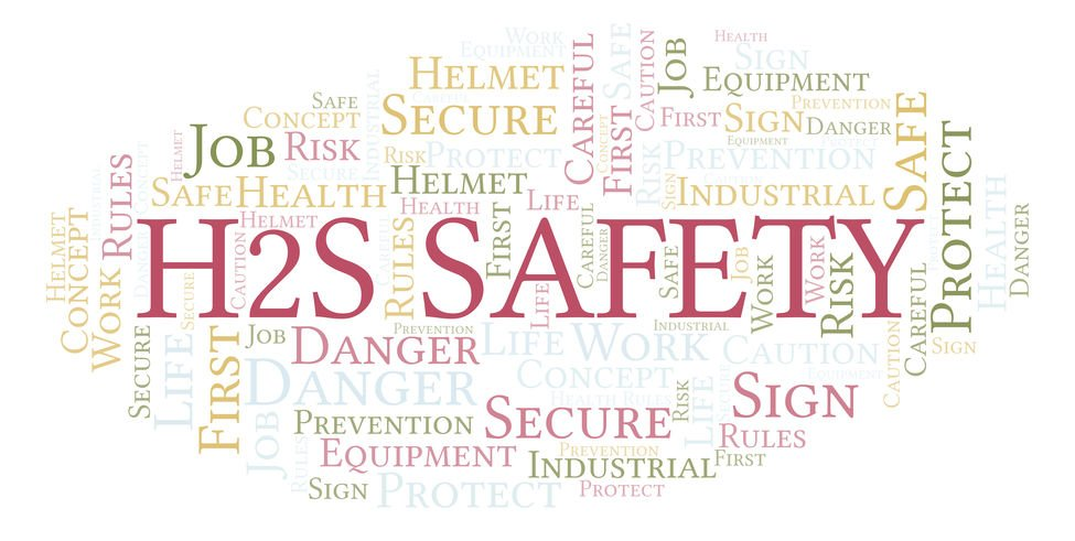 H2s Safety word cloud.