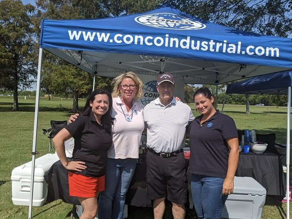 Conco Services visits with NuStar Energy and BIC Alliance at the Texas City-La Marque Chamber of Commerce Jimmy Haley Golf Classic.