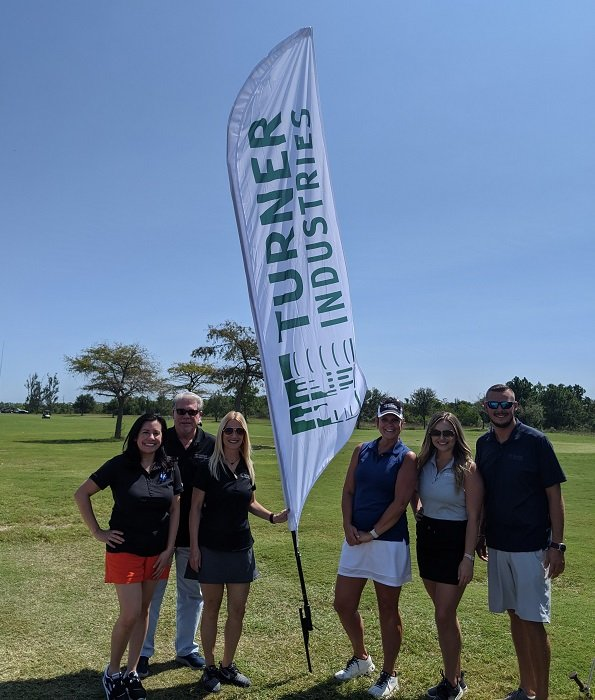 Turner Industries and BIC Alliance enjoy a beautiful day at the golf course.