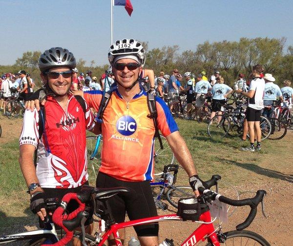 Robert Hoover and Thomas Brinsko at Hotter 'N Hell bike ride.JPG