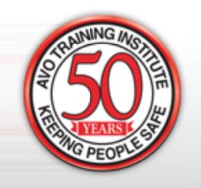 AVO Training 50 years seal.png