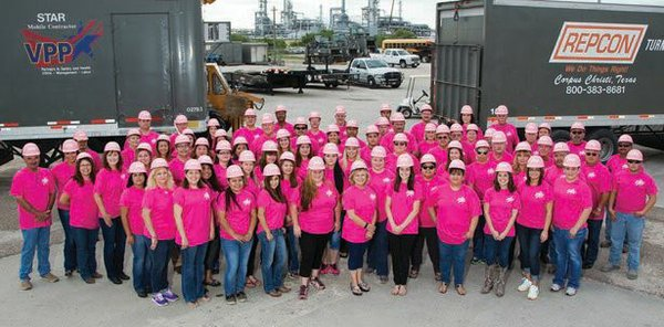 Repcon with pink hard hats