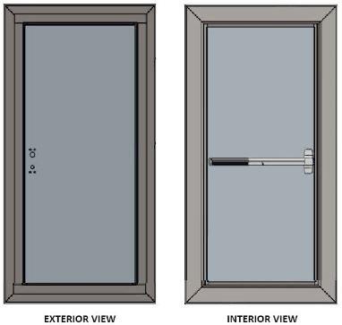 Hallwood blast-resistant doors