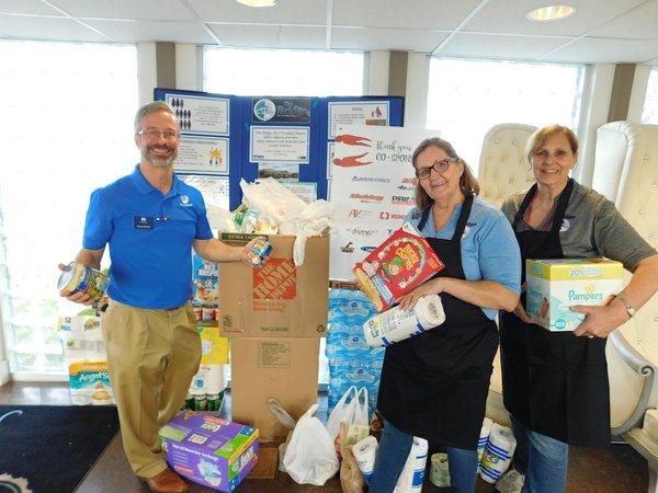 BIC crawfish boil donation items