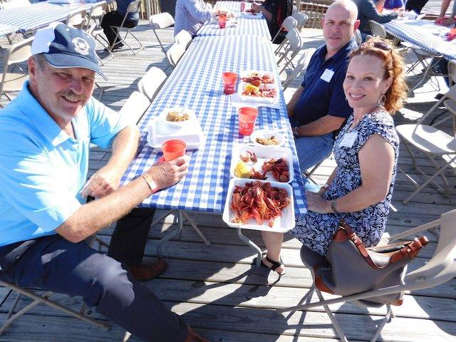 BIC crawfish boil Eastman ABC Wood Group