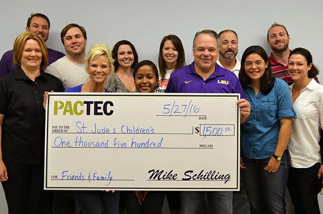 PacTec St. Jude's donation