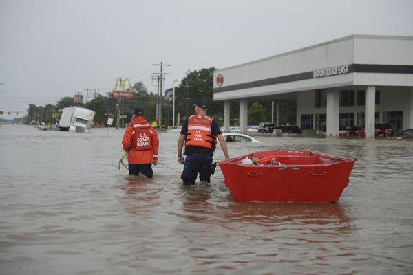 Baton Rouge flood Coast Guard