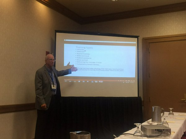 """Bob Mathews of Royal Purple presents """"Getting the most from your reliability training"""" during the 10th Annual Maintenance and Reliability Symposium in Galveston, TX."""