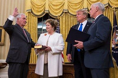 Rex Tillerson, Donald Trump