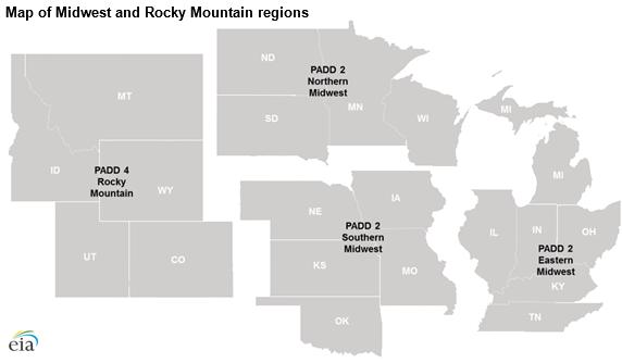 Midwest, Rocky Mountain regions