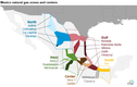 Mexico natural gas zones and centers