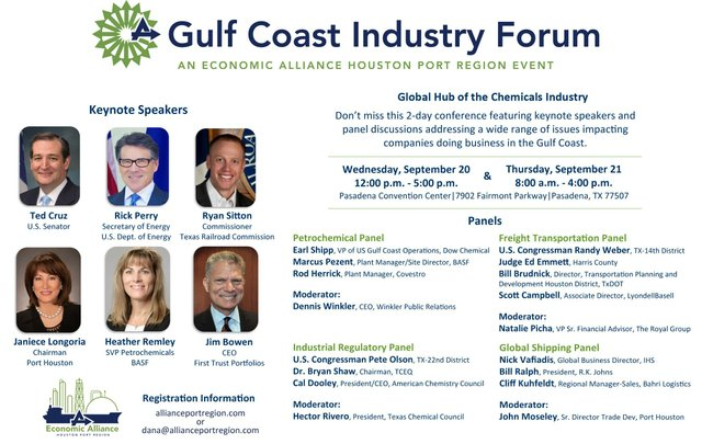 Economic Alliance Houston Port Region Gulf Coast Industrial Forum