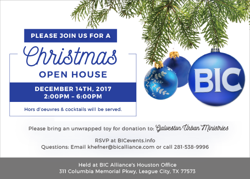 2017 BIC Christmas Open House