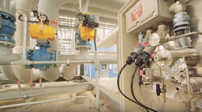 Mustang Sampling Liquefaction Plant video