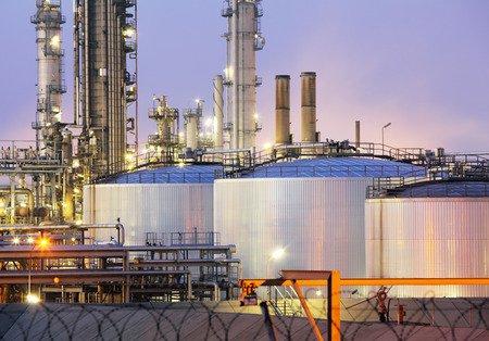 Oil tanks, refinery