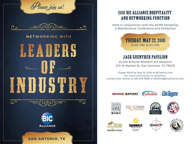 2018 BIC Alliance Hospitality and Networking Function